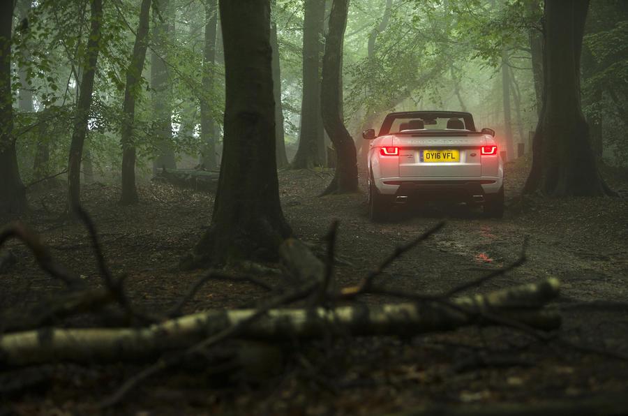 Range Rover Evoque Convertible rear end