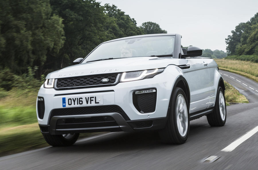 range rover evoque convertible review 2017 autocar. Black Bedroom Furniture Sets. Home Design Ideas