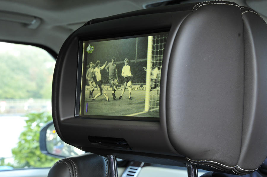 Range Rover rear TV screens