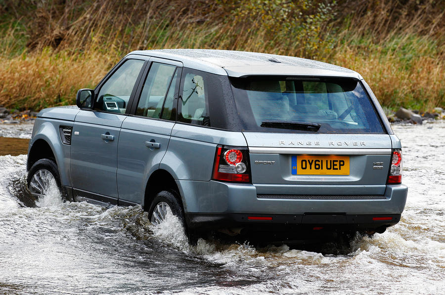 Range Rover Sport in water
