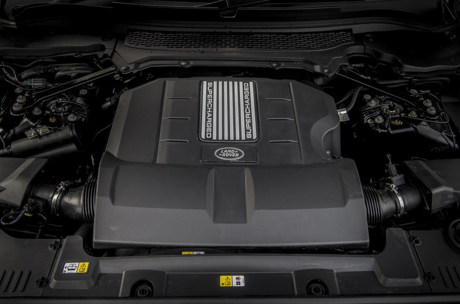 Supercharged 3.0-litre V6 Range Rover Sport engine