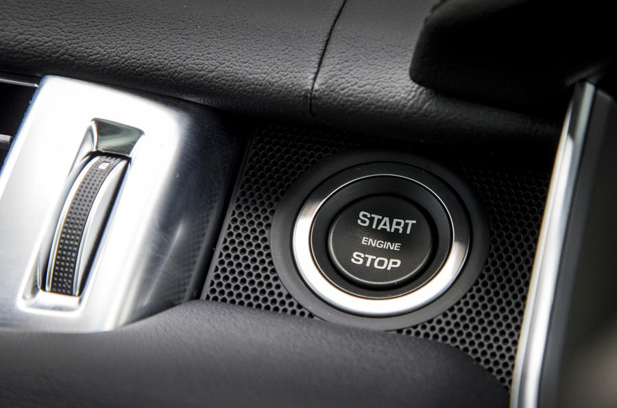 Range Rover Sport ignition button