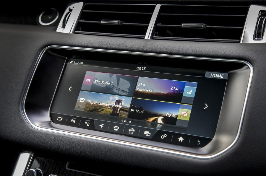 Range Rover Sport infotainment system
