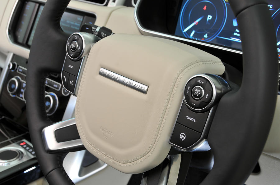 Range Rover steering wheel controls