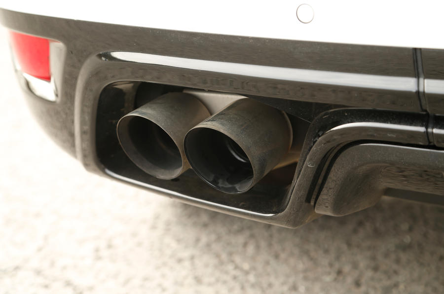 The active exhaust creates an angrier bark from the Range Rover Sport SVR's V8