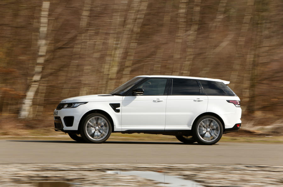 The Range Rover Sport SVR is firm, but the ride comfort remains more that acceptable