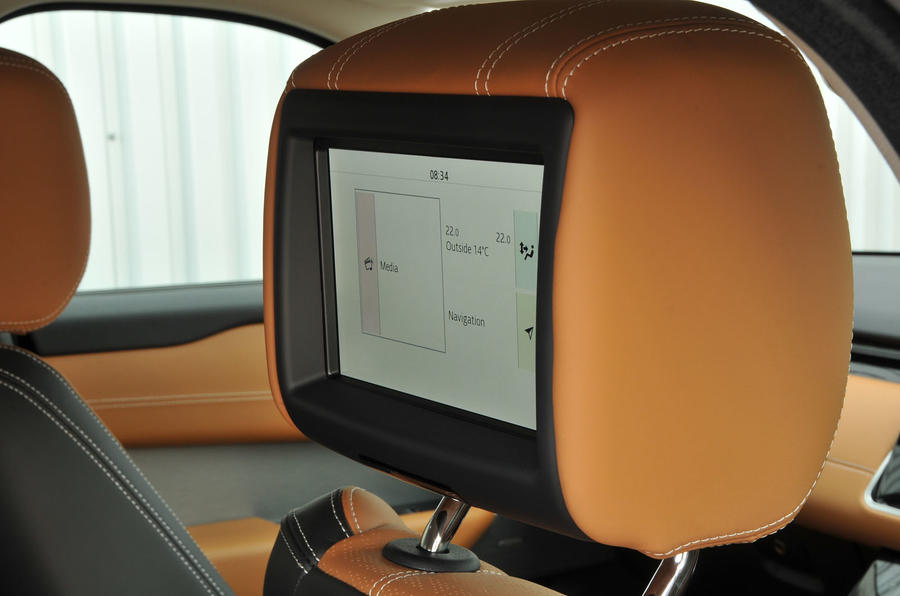 Range Rover Velar rear TV screens