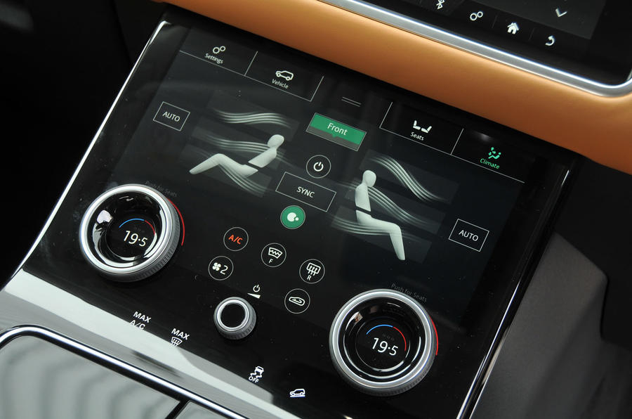 Range Rover Velar second touchscreen