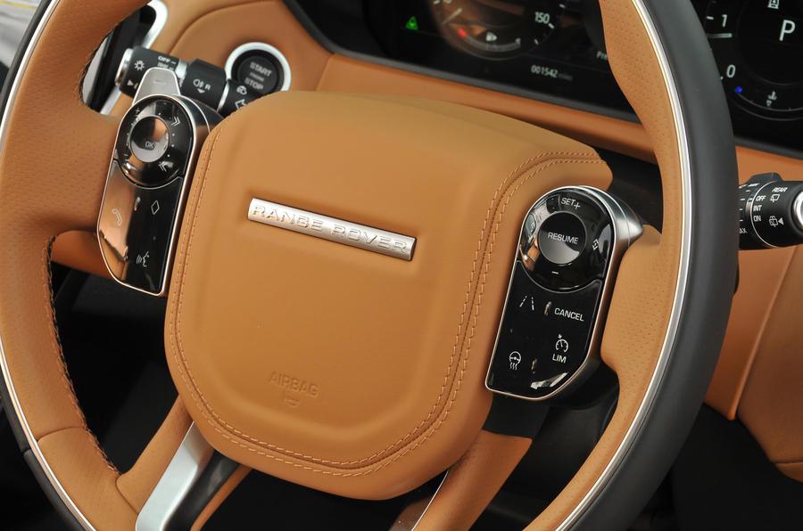 Range Rover Velar steering wheel