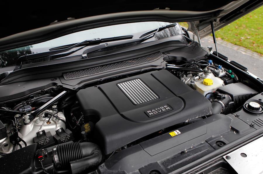 4.4-litre V8 Range Rover engine