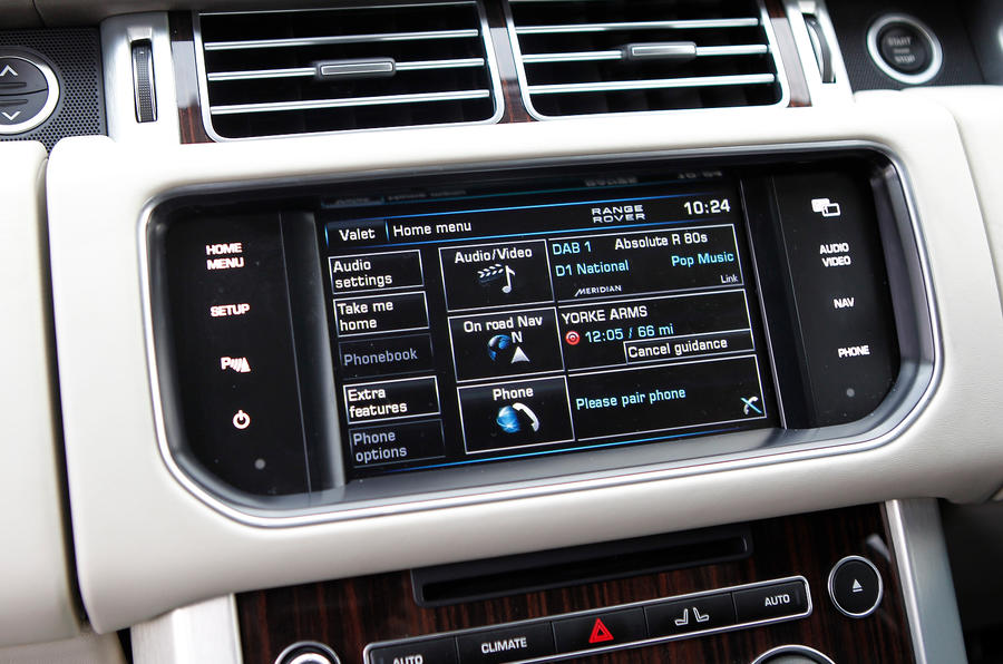 Range Rover infotainment systems