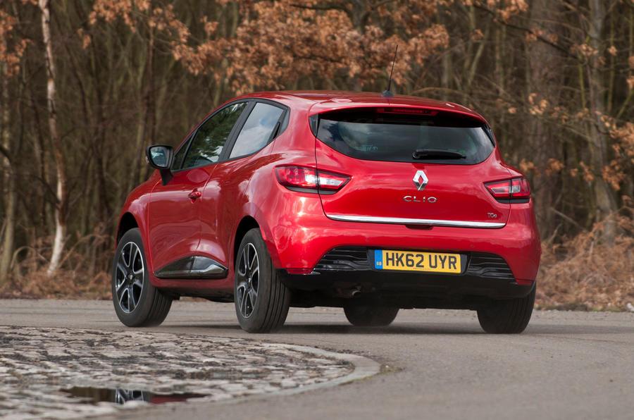 Renault Clio rear cornering