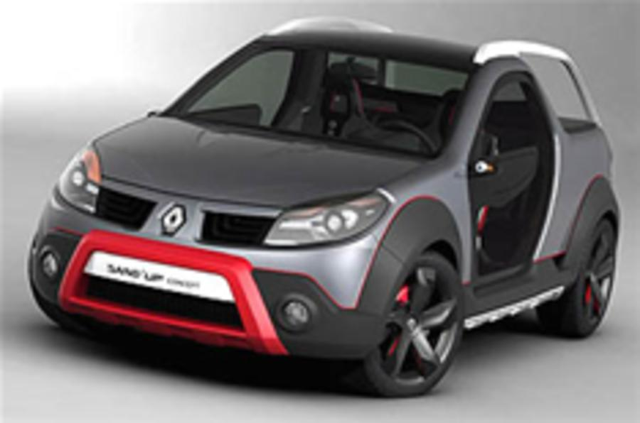 Renault Sand'Up concept shown