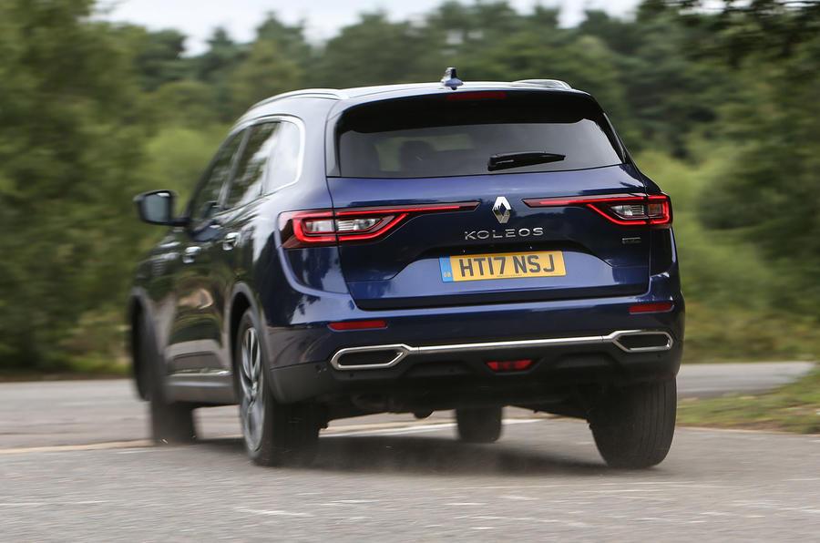 Renault Koleos rear cornering