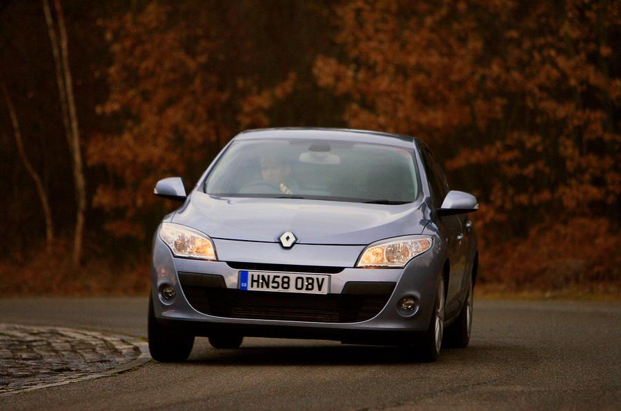 Renault Megane cornering