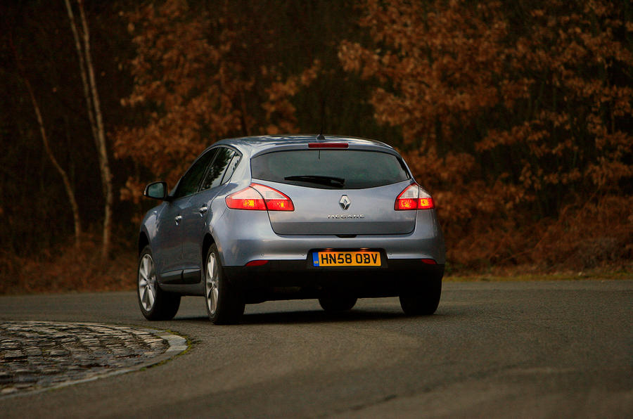 Renault Megane rear cornering