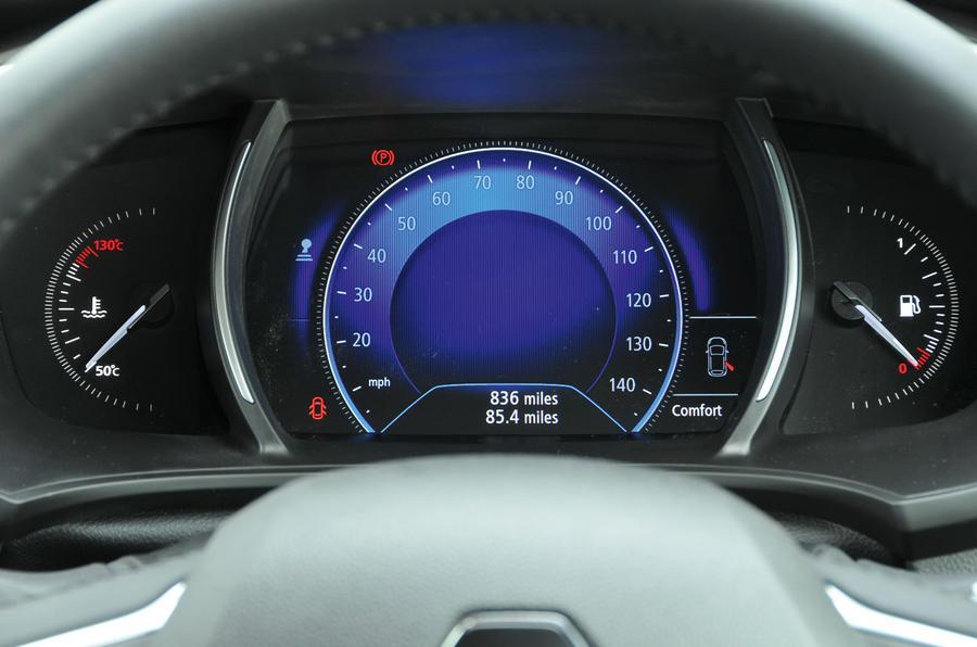 Renault Megane instrument cluster