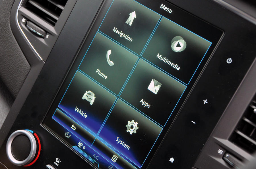 Renault Megane R-link infotainment system
