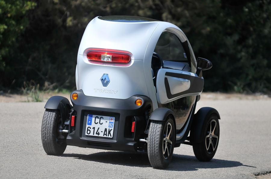 Renault Twizy rear cornering