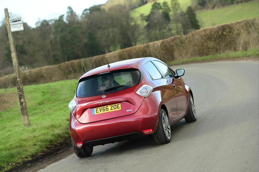 Renault Zoe rear cornering