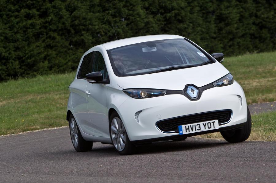 Renault Zoe hard cornering