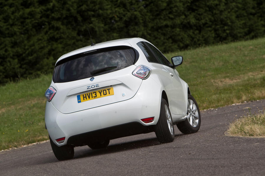 Renault Zoe rear hard cornering