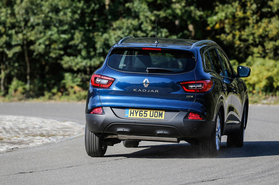 ...but harsh bumps are felt in the Renault Kadjar's cabin