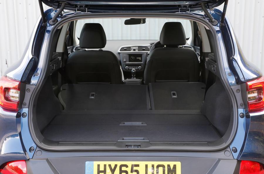 Renault Kadjar extended boot spacec