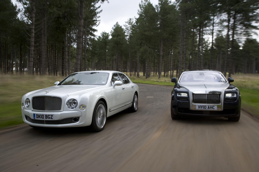 Bentley Mulsanne V Rolls Ghost Autocar