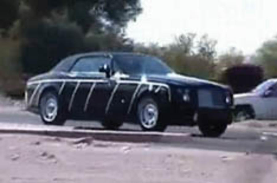 Soft-top Rolls' hot test caught on video