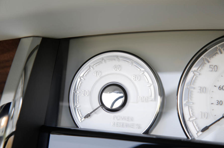 Rolls-Royce Dawn Power Reserve dial