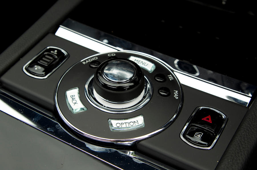 Rolls-Royce Ghost infotainment controls