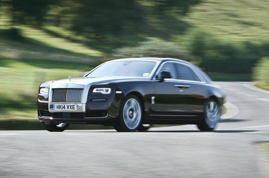 Rolls-Royce Ghost Series II cornering