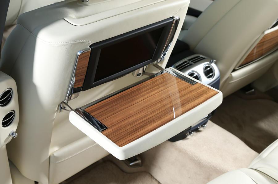 Rolls-Royce Ghost rear seat table