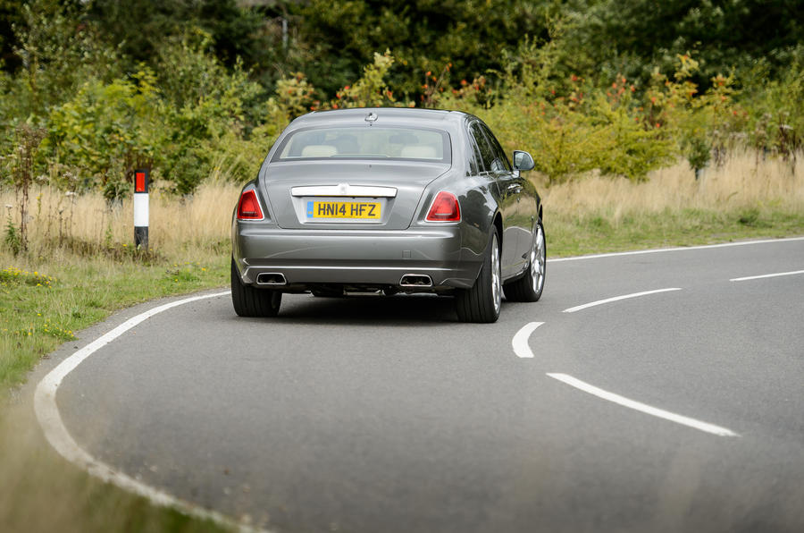 Rolls-Royce Ghost rear cornering