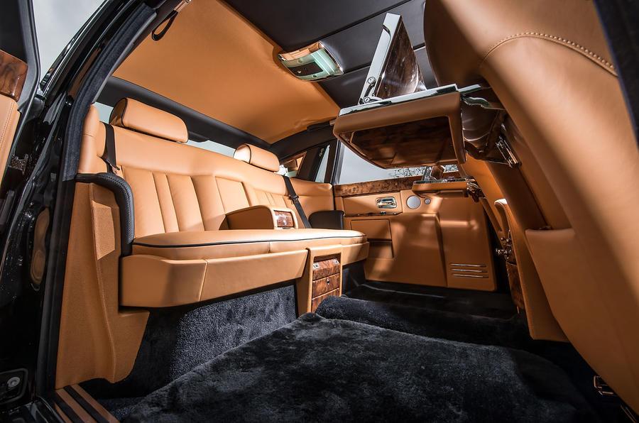 Rolls-Royce Phantom EWB rear seats