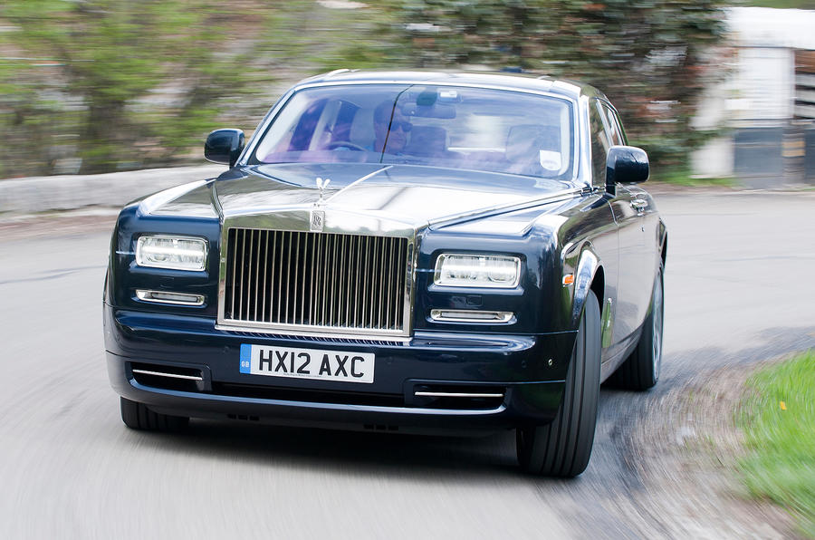 Rolls-Royce Phantom cornering