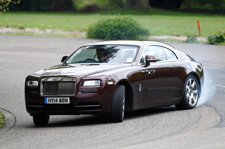 Rolls-Royce Wraith drifting