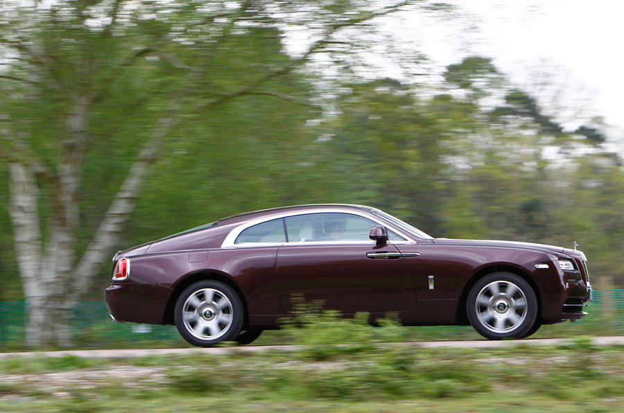 The Rolls-Royce Wraith's nose points where it needs to go...