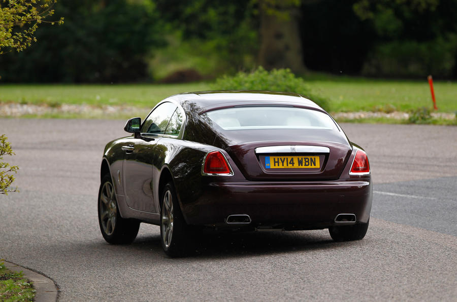 ...the Rolls-Royce Wraith sometimes can't manage it and lapses into a lazy slide