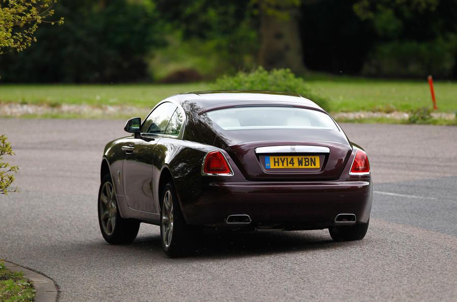 Rolls-Royce Wraith rear cornering