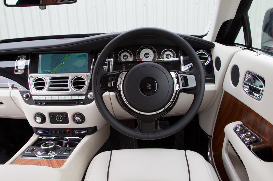 The view from the Rolls-Royce Wraith's driver's seat