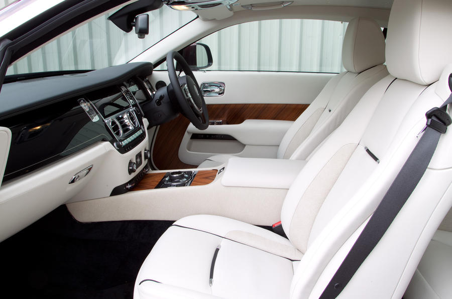 The luxurious front seats in the Rolls-Royce Wraith