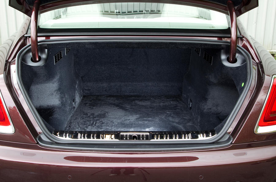 The short and narrow entry to the Rolls-Royce Wraith's boot