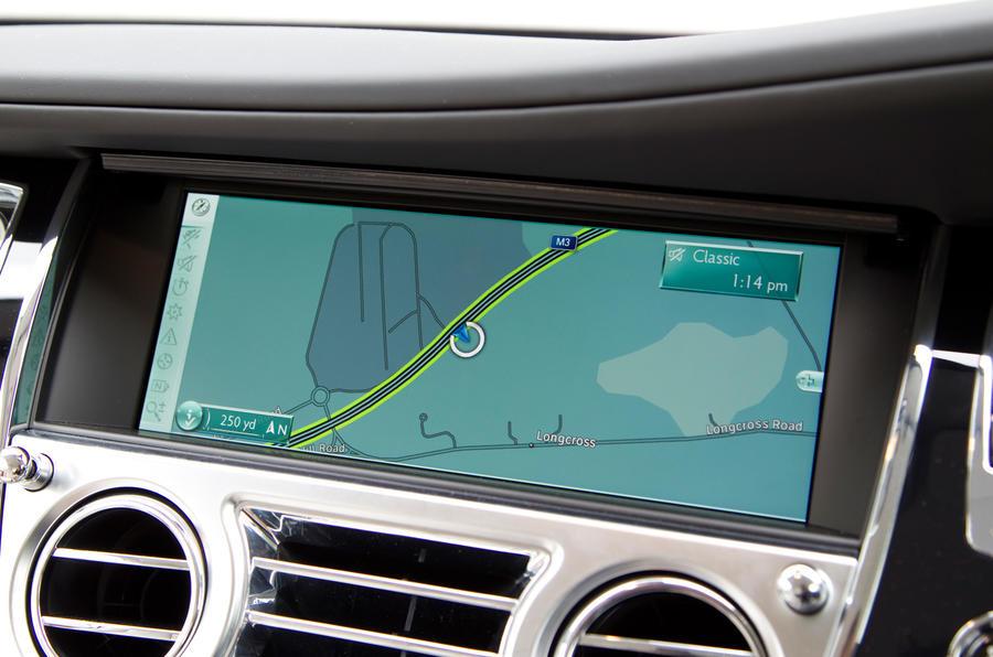Rolls-Royce Wraith infotainment system