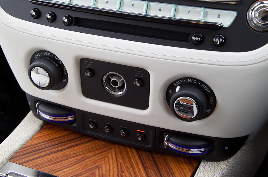 The Rolls-Royce Wraith climate control switchgear