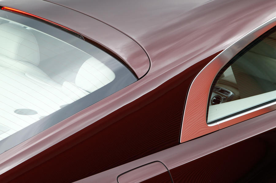 The sloping roofline is a must on the Rolls-Royce Wraith, which echoes back to the popular fastback shape in the 1930s