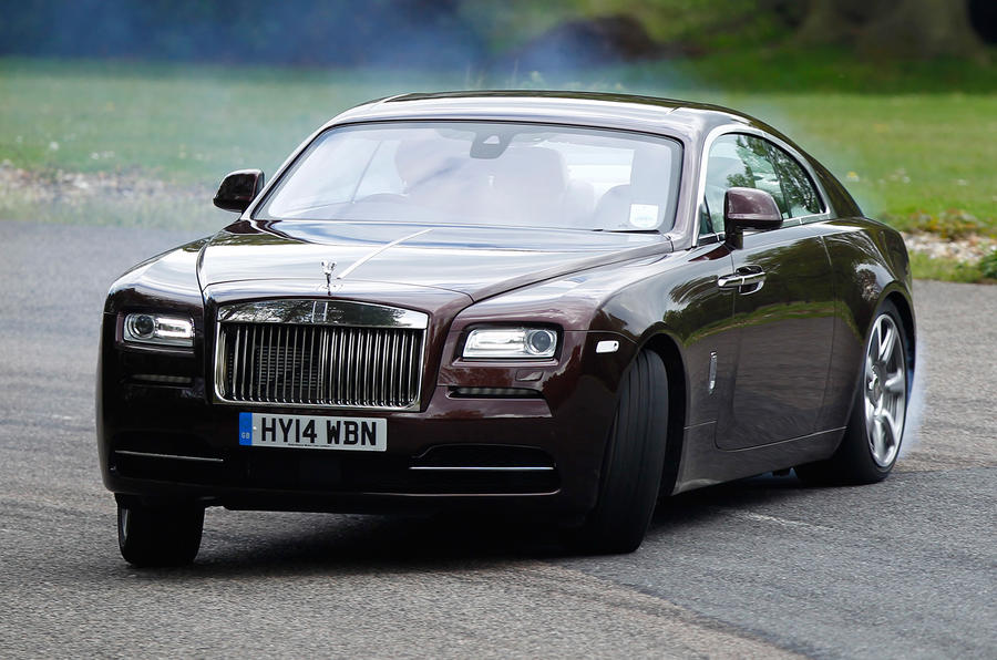 Rolls-Royce Wraith hard drifting