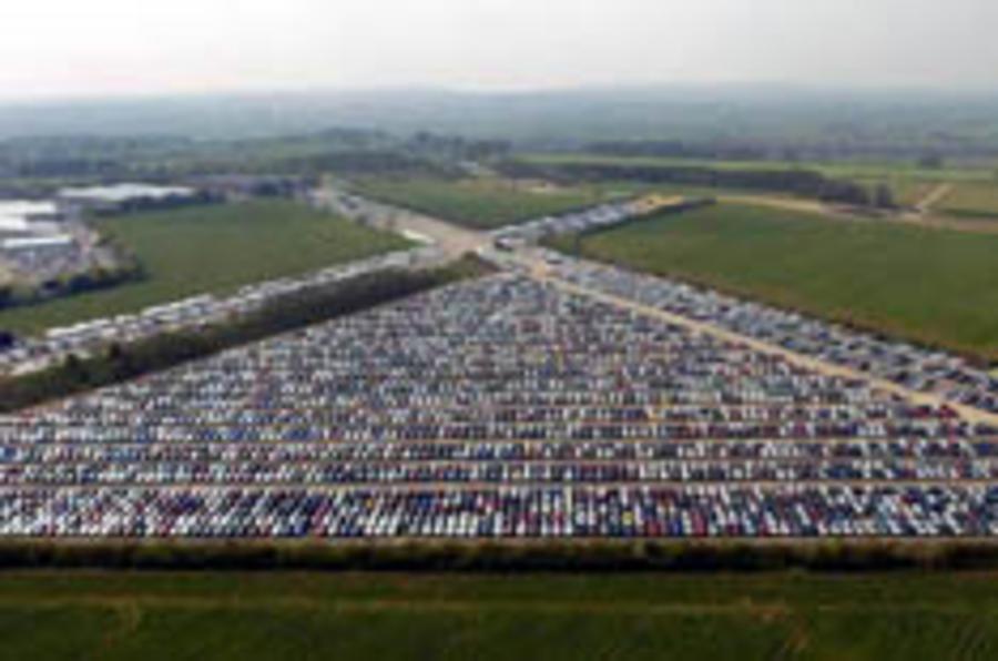 UK car production cut in half