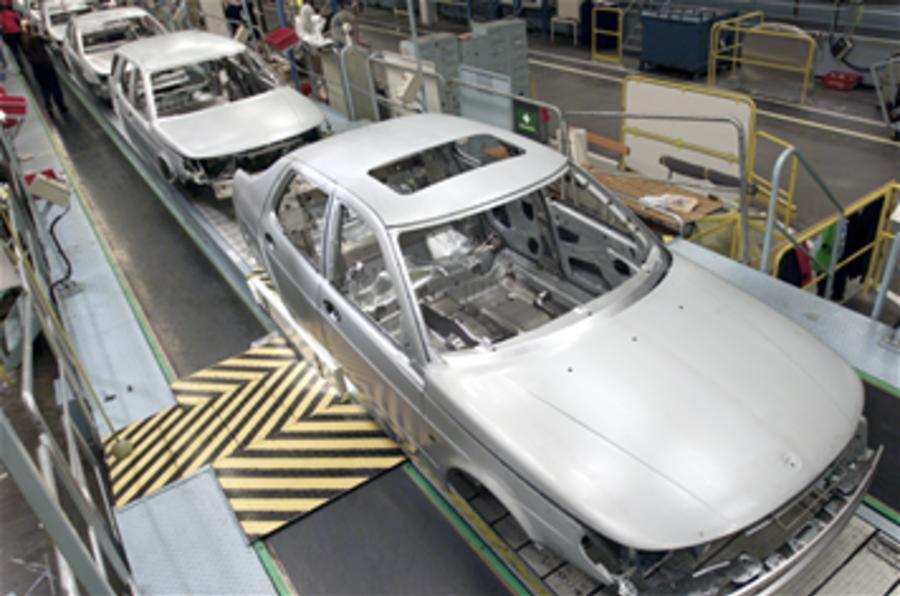 Saab production halted again